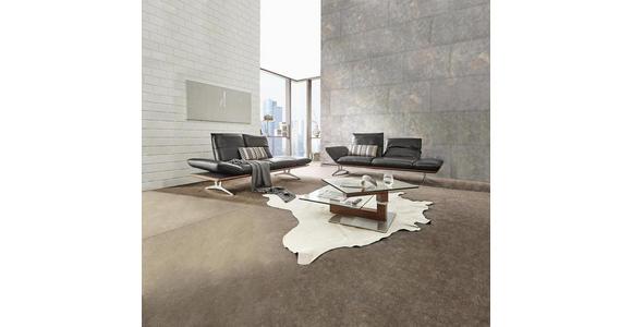 2,5-SITZER Echtleder Schwarz  - Schwarz/Nickelfarben, Design, Leder (236/73-93/92-123cm) - Dieter Knoll