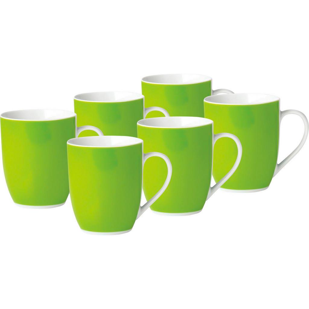 XXXLutz Kaffeebecherset 6-teilig keramik porzellan grün