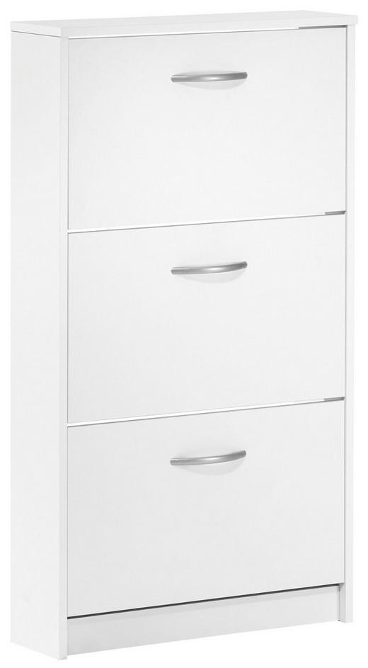 SCHUHKIPPER melaminharzbeschichtet Weiß - Silberfarben/Weiß, Design, Kunststoff (58.5/104.5/17cm) - Carryhome