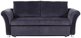SCHLAFSOFA in Textil Dunkelgrau - Chromfarben/Dunkelgrau, Design, Kunststoff/Textil (191/81/99cm) - Venda