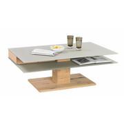 KONFERENČNÍ STOLEK - barvy dubu/jílová barva, Design, dřevo/sklo (120/75/43cm) - Voglauer