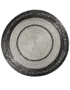 PLATZDECKCHEN Metall, Glas Grau, Silberfarben 35 cm  - Silberfarben/Grau, Basics, Glas/Metall (35cm) - X-Mas