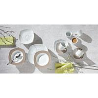 SPEISETELLER Keramik Porzellan  - Braun/Weiß, Basics, Keramik (26/26/2cm) - Ritzenhoff Breker