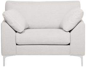 FÅTÖLJ - kromfärg/ljusgrå, Klassisk, trä/textil (112/84/85cm) - Hom`in