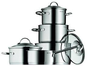 KASTRULLSET - klar/rostfritt stål-färgad, Design, metall/glas - WMF