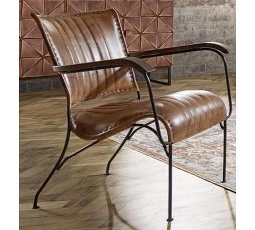 Sessel In Holz Leder Metall Braun Schwarz Online Kaufen Xxxlutz