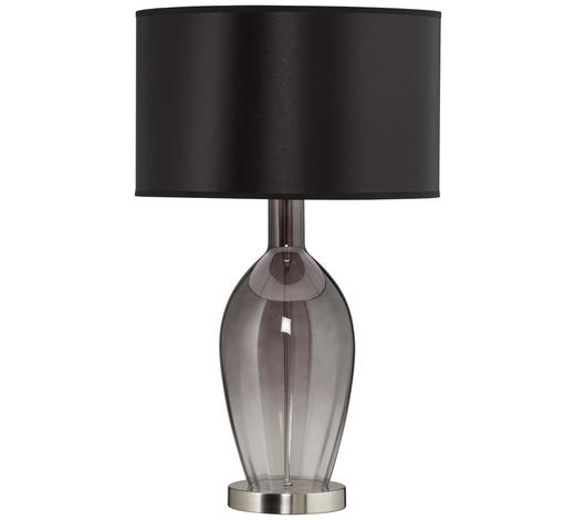 STOLNÍ LAMPA - šedá/černá, Design, textil/sklo (38/61,5cm)