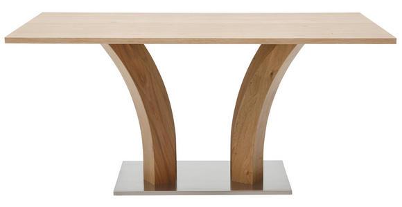 ESSTISCH Wildeiche furniert rechteckig Edelstahlfarben, Eichefarben - Edelstahlfarben/Eichefarben, Design, Holz/Holzwerkstoff (200/90/76cm) - Dieter Knoll