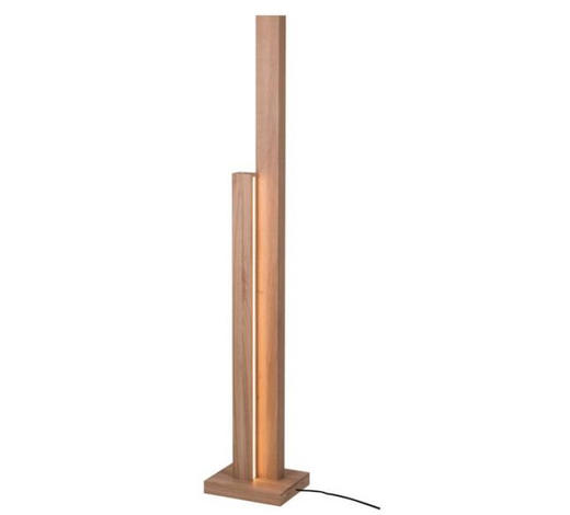 LED STOJACÍ LAMPA - barvy dubu, Natur, dřevo (28/23/156cm) - Dieter Knoll