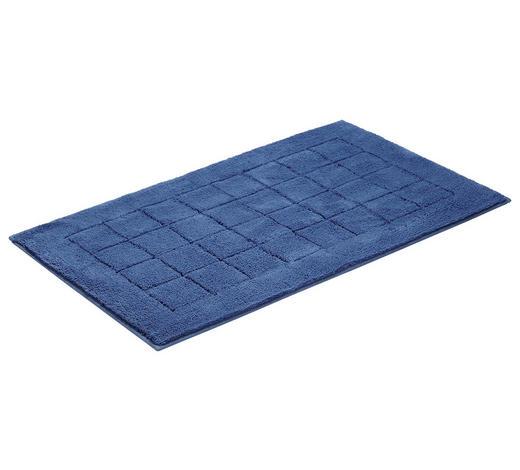 PŘEDLOŽKA KOUPELNOVÁ, 67/120 cm, tmavě modrá - tmavě modrá, Basics, textil/umělá hmota (67/120cm) - Vossen