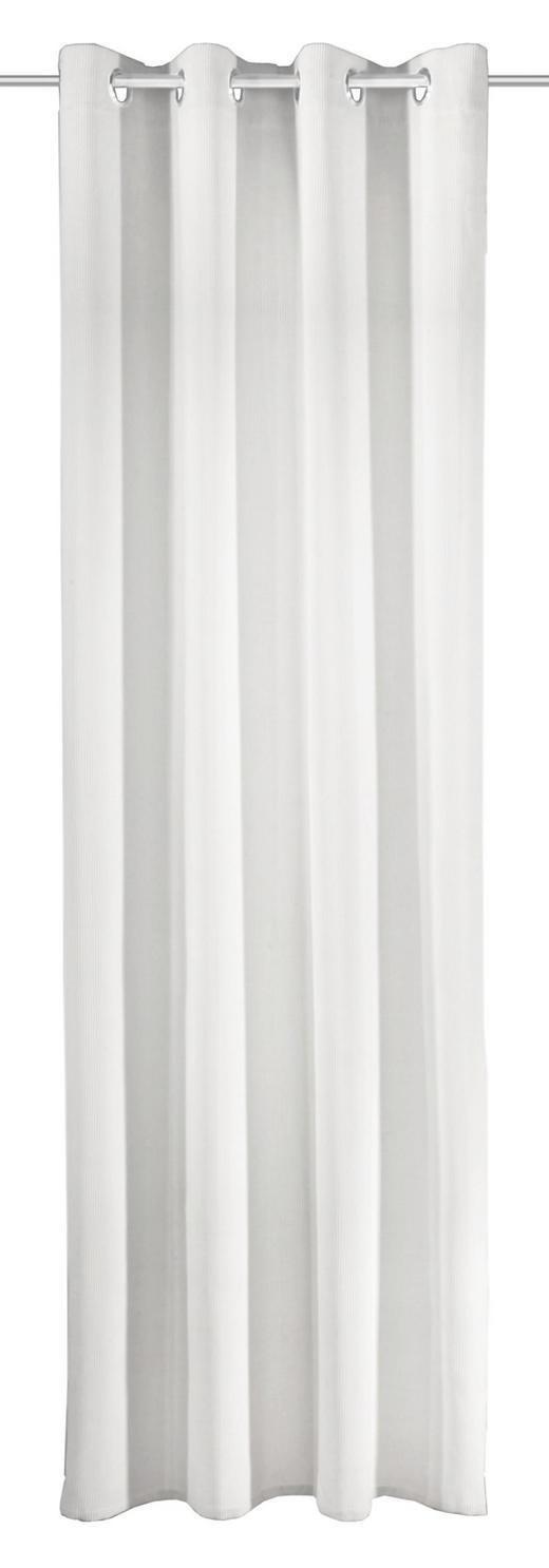 ÖSENSCHAL  Verdunkelung  135/245 cm - Weiß, Textil (135/245cm)