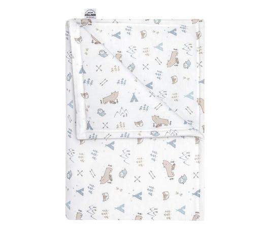 SCHMUSEDECKE 70/100 cm - Weiß, Basics, Textil (70/100cm) - Zöllner