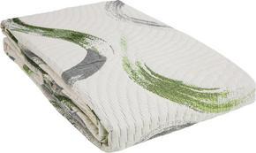 SÄNGÖVERKAST - beige/grön, Design, textil (220/240cm) - Novel