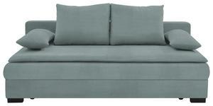 SCHLAFSOFA Hellgrau - Hellgrau/Schwarz, KONVENTIONELL, Kunststoff/Textil (207/74-94/90cm) - Venda