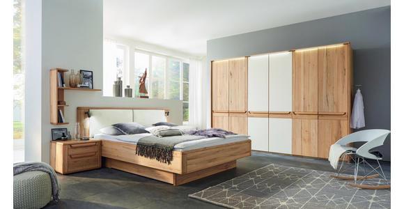 SCHLAFZIMMER in Buchefarben, Creme - Buchefarben/Creme, Natur, Holz/Textil (180/200cm) - Valnatura