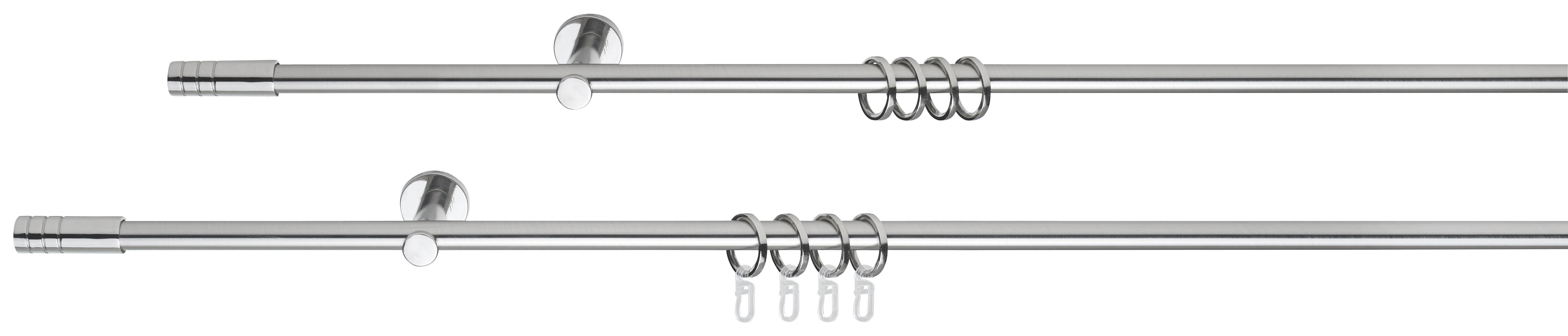 GARDINSTÅNG - rostfritt stål-färgad, Basics, metall (160cm) - Homeware