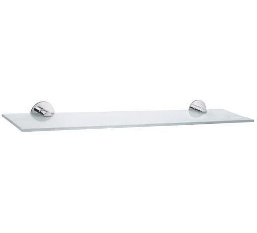 BADEZIMMERKONSOLE 60/5,5/12 cm - Basics, Glas/Metall (60/5,5/12cm)