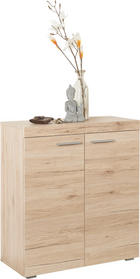 OMARA ZA ČEVLJE hrast - hrast/srebrna, Design, umetna masa/leseni material (80/86/35cm) - Carryhome