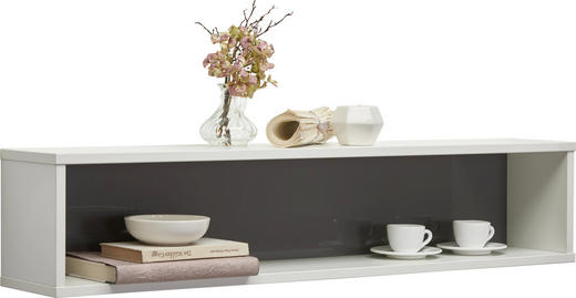 HÄNGEELEMENT Grau, Weiß - Weiß/Grau, Design (100/20.7/17.7cm) - Welnova