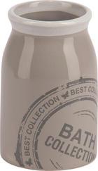 ZAHNPUTZBECHER Keramik - Grau, Basics, Keramik (6,9/10,5/6,9cm)