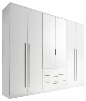 SKŘÍŇ, bílá - bílá/barvy hliníku, Design, dřevěný materiál/umělá hmota (270/225/59cm) - Carryhome