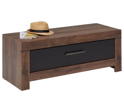 ŠATNÍ LAVICE, černá, barvy dubu,  - barvy stříbra/černá, Romantický / Rustikální, kompozitní dřevo/umělá hmota (112/45/45cm) - Carryhome