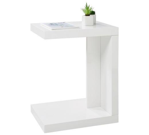 BEISTELLTISCH rechteckig Weiß  - Weiß, Design (40/50/30cm) - Xora