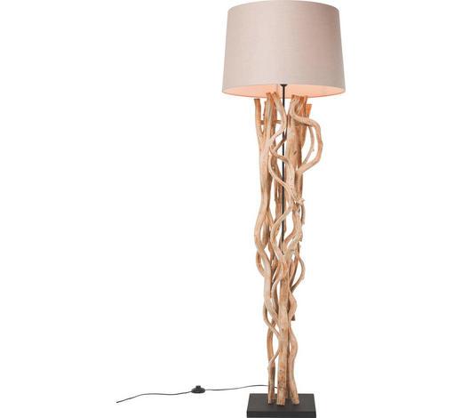 STEHLEUCHTE - Beige, Design, Holz/Textil (30/150/30cm) - Kare-Design