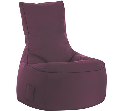 SITZSACK in Textil Aubergine - Aubergine, Design, Textil (95/90/65cm)