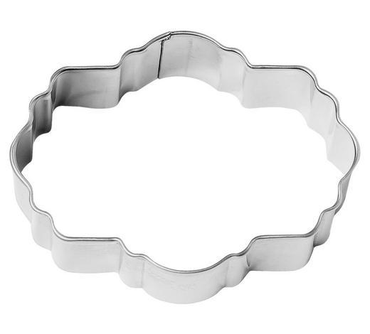 KEKSAUSSTECHFORM - Edelstahlfarben, Basics, Metall (8cm) - Birkmann