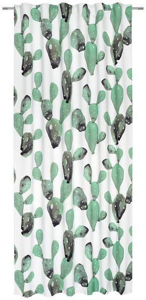 GARDINLÄNGD - vit/grön, Trend, textil (135/245cm) - Esposa