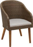 ZAHRADNÍ KŘESLO - šedá/barva teak, Design, kov/dřevo (63/54/84cm) - AMATIO