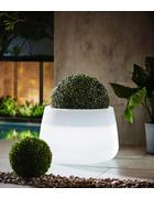 LED-Blumentopf Weiß  - Weiß, Design (59/39cm)
