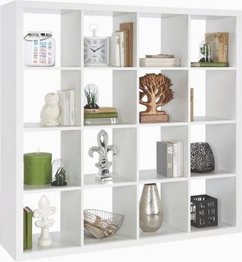 REGÁLOVÝ DÍL - bílá, Design, dřevěný materiál (147/147/38cm) - CARRYHOME