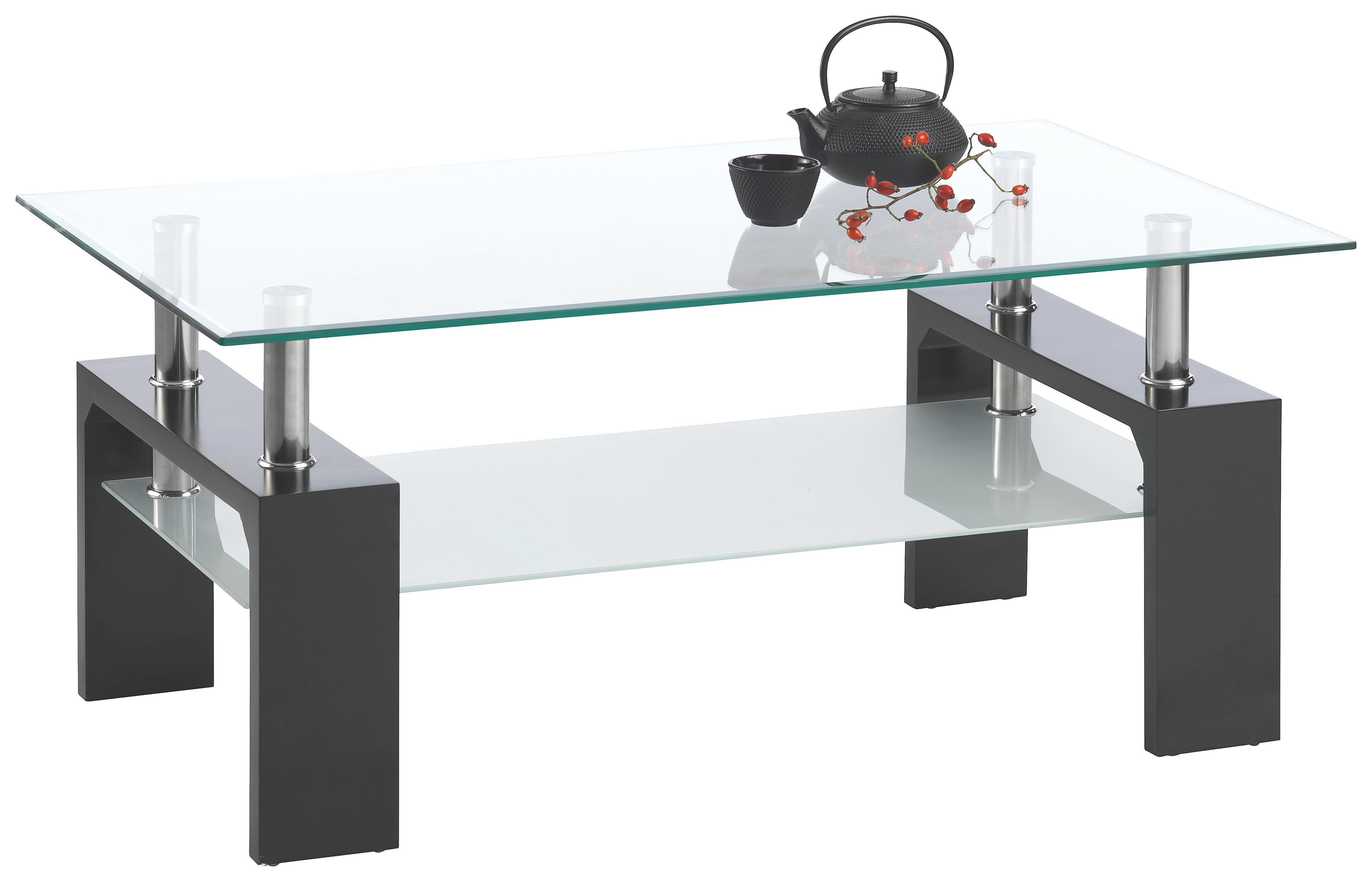 KLUBSKA MIZA - črna, Design, kovina/steklo (100/45/60cm) - XORA