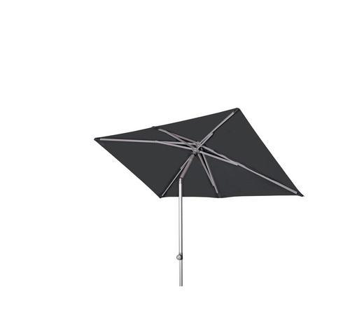 SONNENSCHIRM 220x130 cm Anthrazit  - Anthrazit/Alufarben, KONVENTIONELL, Textil/Metall (220/130cm) - Doppler