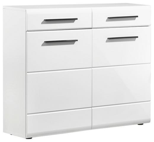 SCHUHSCHRANK Glanz Weiß - Schwarz/Weiß, Design, Holzwerkstoff/Kunststoff (100/88/35cm) - Carryhome