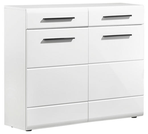 SCHUHSCHRANK Weiß - Schwarz/Weiß, Design, Holzwerkstoff/Kunststoff (100/88/35cm) - Carryhome