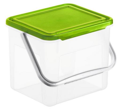 POSODA ZA PRALNI PRAŠEK BASIC - zelena/prosojna, Basics, umetna masa (21/20/18cm) - Rotho