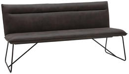 SITZBANK Mikrofaser Anthrazit, Schwarz - Anthrazit/Schwarz, Design, Textil/Metall (180cm) - Valnatura