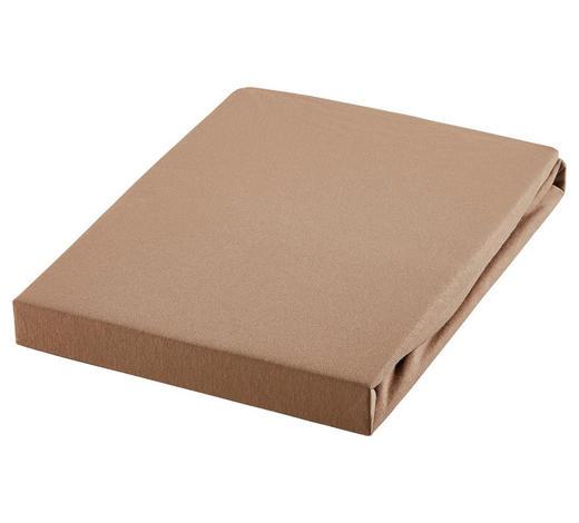 TOPPER-SPANNBETTTUCH Jersey Beige für Topper geeignet  - Beige, KONVENTIONELL, Textil (180/200cm) - Esposa