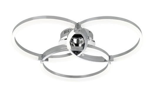 LED-DECKENLEUCHTE - Chromfarben, Design, Kunststoff/Metall (68/9,3/68cm)