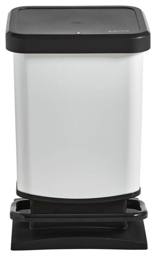 ABFALLEIMER 20 L - Schwarz/Weiß, Basics, Kunststoff (29,3/26,6/45,7cm)