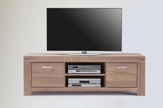 TV-ELEMENT Wildeiche Sonoma Eiche - Edelstahlfarben/Sonoma Eiche, Basics, Holz/Metall (195/51/50cm) - Carryhome