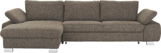 WOHNLANDSCHAFT - Alufarben/Braun, Design, Textil/Metall (184/316cm) - Beldomo System