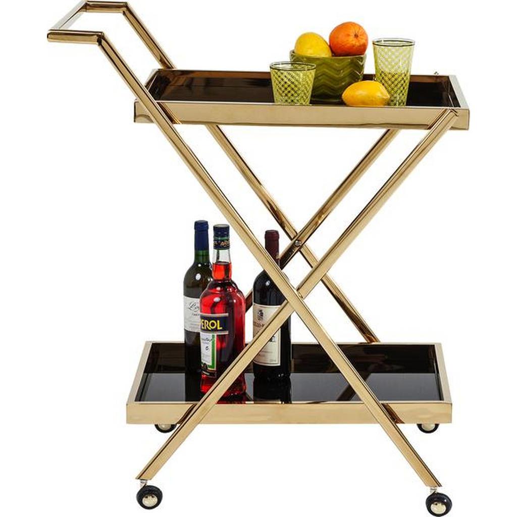 Goldfarbener Design-Teewagen
