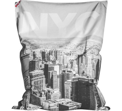 SITZSACK in Textil Schwarz, Weiß - Schwarz/Weiß, Design, Textil (130/170/20cm)