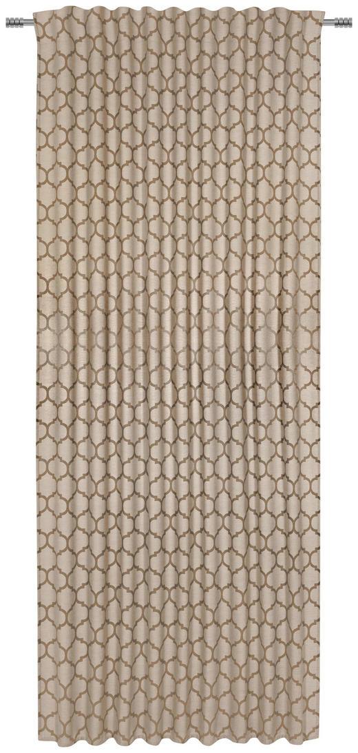 FERTIGVORHANG  halbtransparent  140/245/ cm - Goldfarben, Natur, Textil (140/245/cm) - Esposa