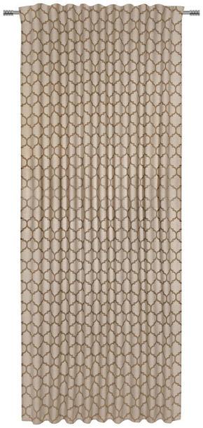 GARDINLÄNGD - guldfärgad, Natur, textil (140/245cm) - Esposa