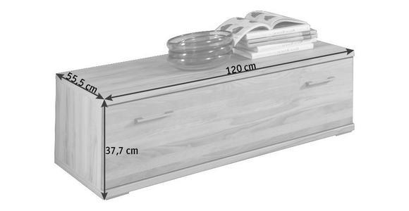 LOWBOARD Kernbuche massiv Buchefarben  - Buchefarben/Silberfarben, KONVENTIONELL, Holz/Kunststoff (120/37,7/55,5cm) - Cantus